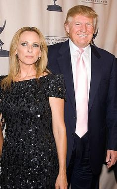 Marlee Matlin and Donald Trump at a 2011 event in NYC