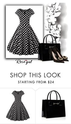 """Rosegal for contest_dress"" by xbuten-marv ❤ liked on Polyvore featuring Élitis, Miu Miu and vintage"