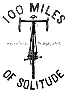 100 Miles of Solitude. Original graphic from Cycology. You can get it on our new tee now.