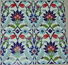 "Set of 12 Ottoman Iznik Style Red Tulip Design 8""x8"" Turkish Ceramic Tiles"