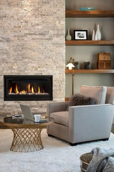 Image result for transitional fireplace treatment
