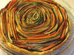 Recettes d'une mère de famille nombreuse: Tarte spirale courgettes carottes