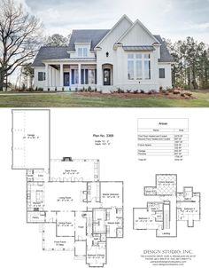 New House Plans, Dream House Plans, House Floor Plans, My Dream Home, Farmhouse Plans, Modern Farmhouse, Modern French Country, French Country House, Farmhouse Style