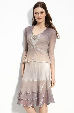 Komarov Ombré Charmeuse & Chiffon Dress with Jacket (Regular & Petite) available at #Nordstrom