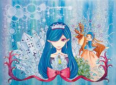 「雪の女王」 「The Snow Queen」 Illustration : Shoko.h