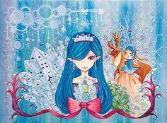 「雪の女王」 「The Snow Queen」 Illustration : Shoko.h