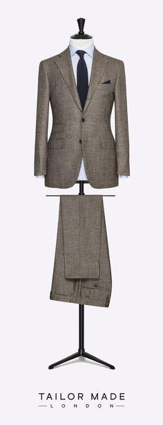 Tailor Made London brown 2-piece suit.