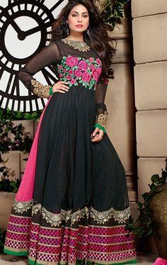Picture of Pretty Looking Black Anarkali Salwar Kameez
