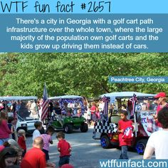 City of Peachtree, Georgia. The golf city - WTF fun facts Love my Peachtree City, GA!!