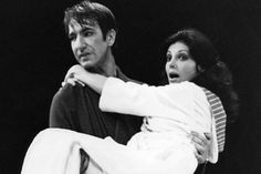 Gayle Hunnicutt and Alan Rickman appearing on stage