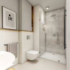 White Bathroom with some darker (grey) Elements