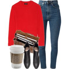 Untitled #5350 by laurenmboot on Polyvore featuring rag & bone, Yves Saint Laurent, H&M and Mulberry