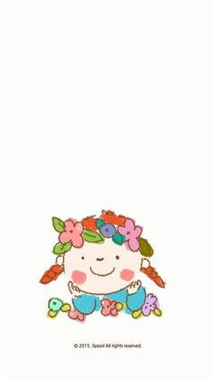 Girl and flower hat