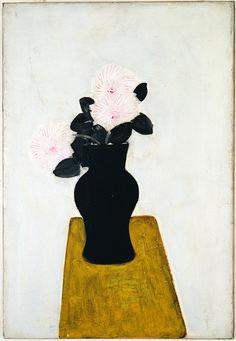 Sanyu, 'Chrysanthemums in a Black Vase', 1930 Art And Illustration, Modern Art, Contemporary Art, Black Vase, Botanical Drawings, 3d Max, Henri Matisse, Chinese Art, Collages