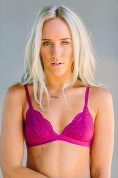 Honeysuckle Lace Bra {Berry} by Three Bird Nest | Bohemian Clothing