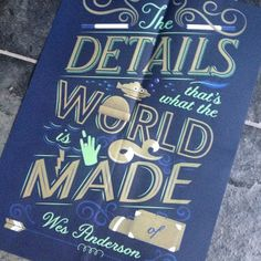 RMD Blog: Loving this Wes Anderson quote illustrated by Jessica Hische in the new Mohawk Paper Maker Quarterly