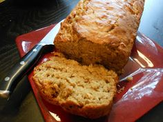 Flavors by Four: Peanut Butter Banana Oatmeal Bread. I just made this and am enjoying a slice right now! It is yummy! I subbed  while wheat flour instead of white and it turned out great.