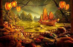 Carl Warner: Escenas increíblemente realistas y complejas creadas con alimentos.