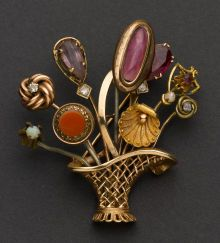 Antique Gold Stick Pin Brooch. ... Estate JewelryBrooches -