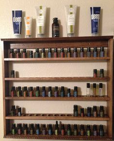 Handmade Wood Essential Oil Display Shelf by displayyourshelf, $89.00