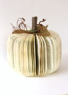 Vintage+Book+PUMPKIN++size+large++For+Whom+the+BELL+by+HiButterfly,+$18.00