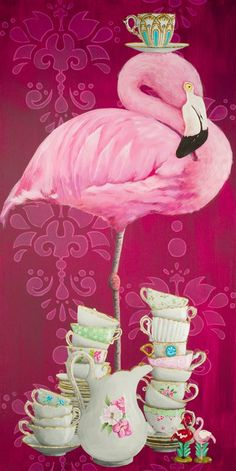 'Tea Time Flamingo' Graphic Art Print Great Flamingo Party | Wedding | Babyshower | Home Decor | Gift Ideas! #flamingos #ad #flamingo #flamingoparty #flamingofever #flamingolove #flamingowedding #flamingobachelorette #flamingobaby #flamingobabyshower #flamingogift #flamingosummer #flamingonursery #flamingoquotes #flamingodecor