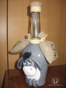 Ослик из бутылки