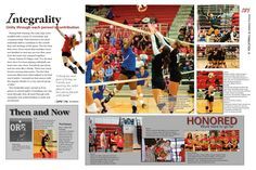 Love this #Volleyball #YearbookSpread [Prowler, Westmoore High School, Oklahoma City, OK] #yearbook Volleyball spread