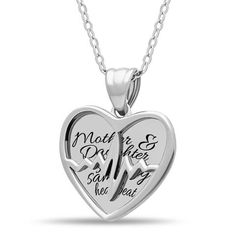 Mother Daughter Heart Necklace, 925 Silver, Silver Plated Two Heart Necklace - TZARO Jewelry - 2