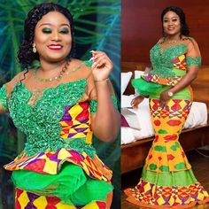 Plus size outfits African Lace Dresses, Latest African Fashion Dresses, African Print Fashion, Women's Fashion Dresses, African Clothes, African Prints, African Print Dress Designs, African Design, Kente Dress