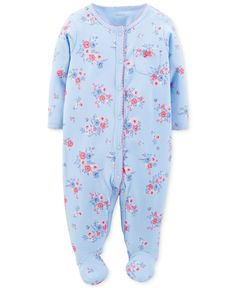 Carter's Baby Girls' Floral Coverall