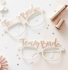 These gorgeous glasses are part of the Team Bride hen party range. The pink paper glasses have a gorgeous rose gold foiled 'Team Bride' design, perfect for a super sophisticated celebration. 'Team Bride' Glasses x Classy Hen Do, Classy Hen Party, Rose Gold Glasses, Bride With Glasses, Bridal Glasses, Heart Glasses, Bridal Shower Photos, Bridal Shower Favors, Bridal Showers