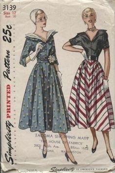 "Rare Vintage Simplicity ""Space Age"" Jetson's Dress Pattern #3139 ~1950's sz 12   eBay"