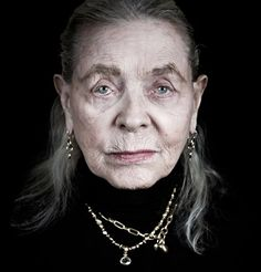 An Astonishing Portrait of Lauren Bacall at Age 88 - Because this is a woman who LIVED all of her 89 years and didn't try to hide it. Every smile, every frown, every laugh, every sob, every cutting glance, and every smoldering stare is etched there for us to see. Her blue eyes still blaze, and she doesn't try to look 58 or 68 because she ISN'T those ages...she's 88. And proud of it. And that's something to admire.