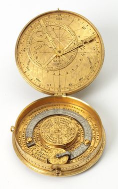 """design-is-fine: """" Christoph Schissler, Astronomical Compendium, Augsburg, Germany. V&A """" Pocket-size compendia were produced by specialist instrument makers. This one contains the universe in a. Objets Antiques, Instruments, The Golden Compass, His Dark Materials, Cartography, Old Things, Gadgets, Cool Stuff, History"""