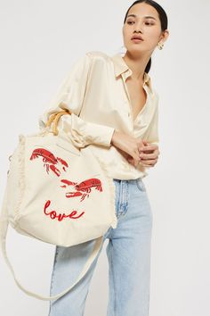 Bobby Lobster Canvas Shopper Bag