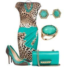 """ROBERTO CAVALLI Leopard Wrap Dress"" by marisol-menahem on Polyvore"