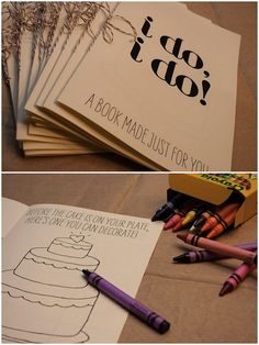 Kid Activity box at a wedding- good to have to keep all the little ones busy at the wedding