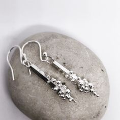 Excited to share this item from my shop: Silver bubble drop earrings Uk Shop, Den, Bubbles, Etsy Shop, Drop Earrings, Trending Outfits, Unique Jewelry, Handmade Gifts, Silver