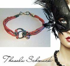 Eulen Armband mit Perle, zu finden auf Facebook Thasalu Schmuck   https://m.facebook.com/Thasalu-Schmuck-Chunks-Co-295839107195113/