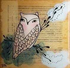Owl - illustration by Trish Grantham
