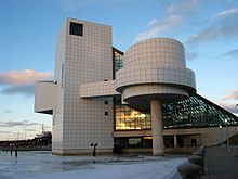 """Rock and Roll Hall (Cleveland, Ohio): One staff member sympathized with Pei's frustrations with the lack of organization at the Rock and Roll Hall of Fame, admitting that he was """"operating in a vacuum""""."""