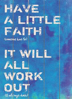 Have A Little Faith Wall Decor