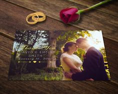 Wedding Thank You Card Template Photoshop by SupremerStudio