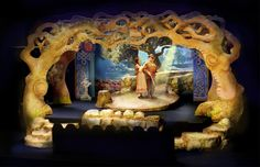 Brigadoon. Rocky Mountain Repertory Theatre. Model. Set design by Kent Homchick.