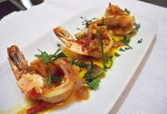 """Spanish Shrimp with Smoked Paprika - One of the most common """"tapas"""" of Spain, """"gambas al ajillo"""" is quick, easy and FULL of garlic flavor. This is a simple yet amazing tasting and looking tapas that anyone will be asking you for the recipe once they have tasted it"""