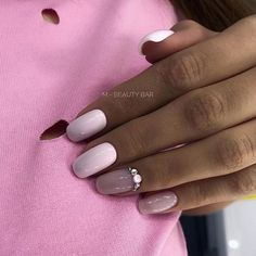 Metallic Nails, Cute Acrylic Nails, Cute Nails, Pretty Nails, Hair And Nails, My Nails, Nail Manicure, Nail Polish, Pink Nails