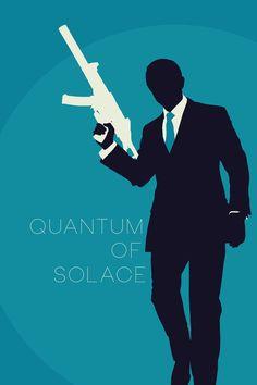 Quantum of Solace (2008) ~ Minimal Movie Poster by Tyler Bramer ~ Bond Series #amusementphile