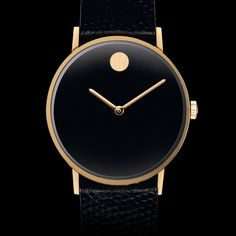 Museum Men's Stainless Steel Watch With Blue Dial and Black Strap   Movado US   Movado US
