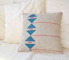Geometric Linen Pillow Covers